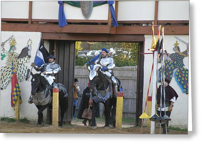Maryland Renaissance Festival - Jousting And Sword Fighting - 121226 Greeting Card