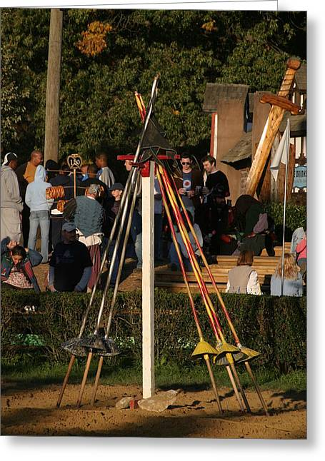 Maryland Renaissance Festival - Jousting And Sword Fighting - 12123 Greeting Card