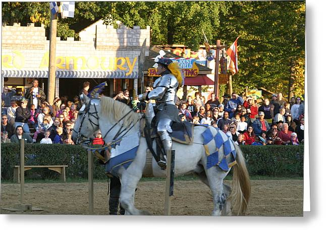 Maryland Renaissance Festival - Jousting And Sword Fighting - 121231 Greeting Card