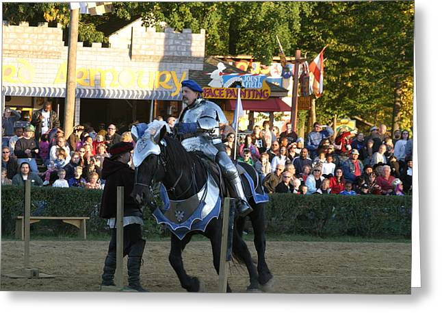 Maryland Renaissance Festival - Jousting And Sword Fighting - 121232 Greeting Card