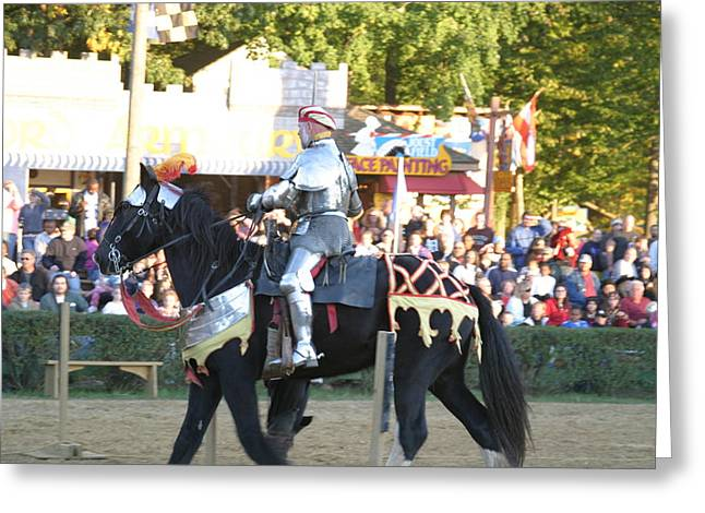 Maryland Renaissance Festival - Jousting And Sword Fighting - 121233 Greeting Card