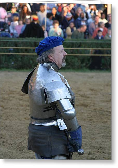 Maryland Renaissance Festival - Jousting And Sword Fighting - 121234 Greeting Card