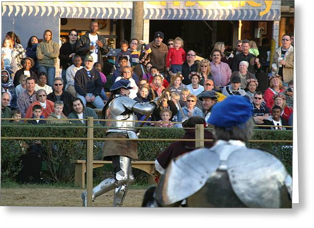 Maryland Renaissance Festival - Jousting And Sword Fighting - 121236 Greeting Card by DC Photographer