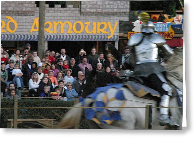 Maryland Renaissance Festival - Jousting And Sword Fighting - 121256 Greeting Card by DC Photographer