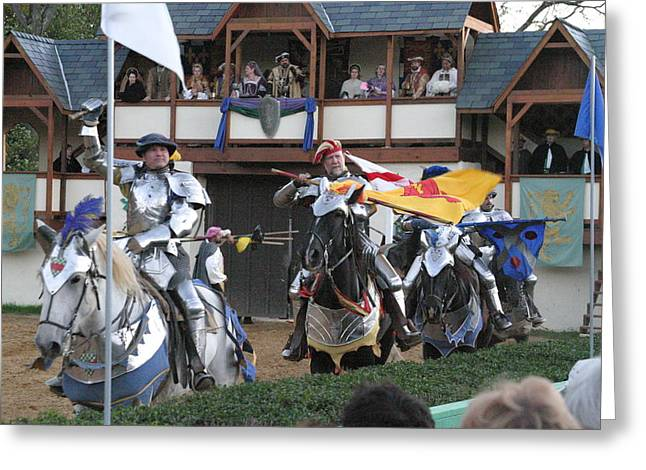 Maryland Renaissance Festival - Jousting And Sword Fighting - 121258 Greeting Card