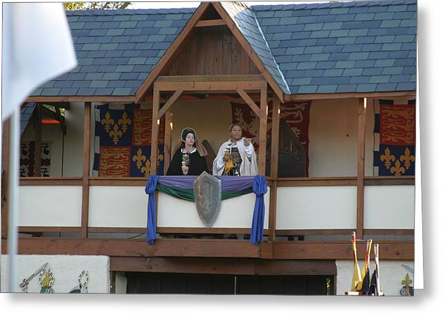 Maryland Renaissance Festival - Jousting And Sword Fighting - 12126 Greeting Card