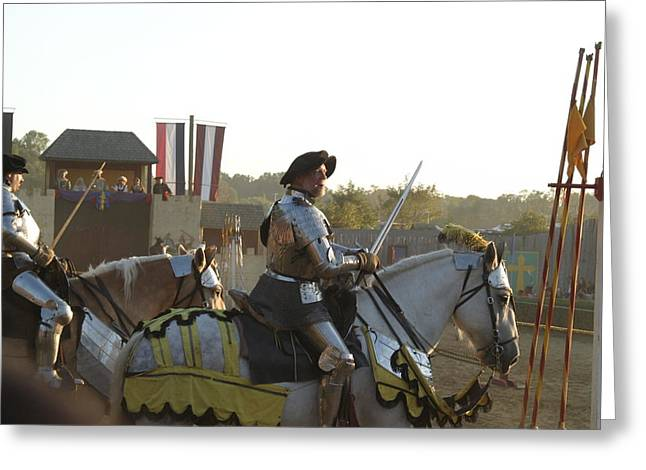 Maryland Renaissance Festival - Jousting And Sword Fighting - 121267 Greeting Card by DC Photographer