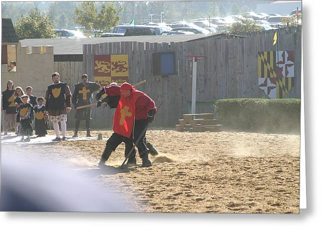 Maryland Renaissance Festival - Jousting And Sword Fighting - 121272 Greeting Card by DC Photographer