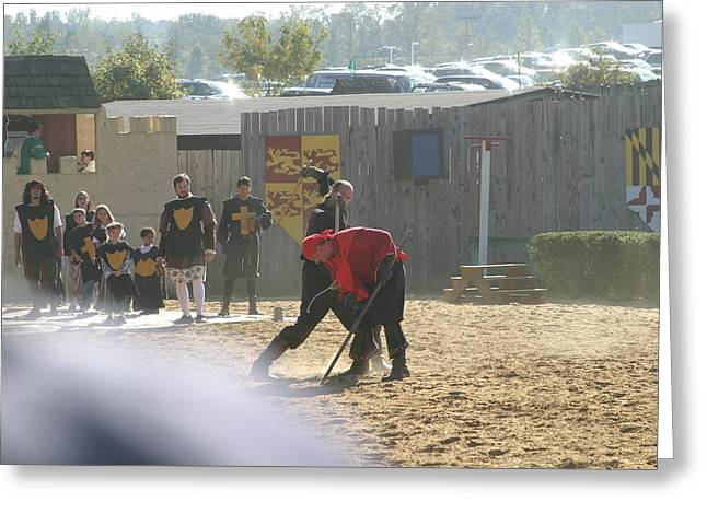Maryland Renaissance Festival - Jousting And Sword Fighting - 121273 Greeting Card by DC Photographer