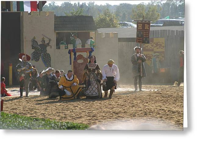 Maryland Renaissance Festival - Jousting And Sword Fighting - 121298 Greeting Card by DC Photographer