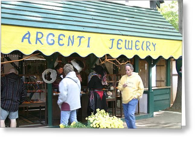Maryland Renaissance Festival - Merchants - 121211 Greeting Card by DC Photographer