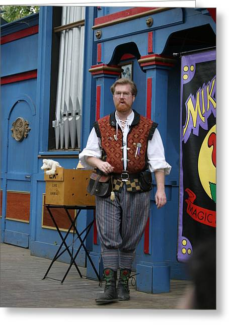 Maryland Renaissance Festival - Mike Rose - 12126 Greeting Card by DC Photographer