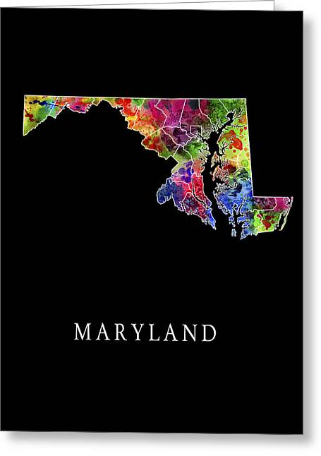 Maryland State Greeting Card by Daniel Hagerman