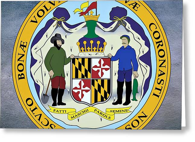 Maryland State Seal Greeting Card by Movie Poster Prints