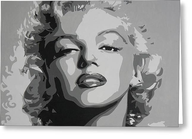 Tribute To Marilyn Monroe Greeting Card by Bitten Kari