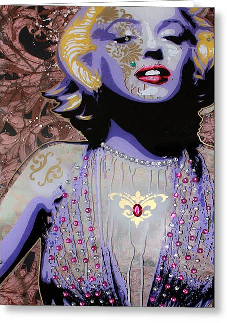 Marylin Greeting Card by Gary Kroman