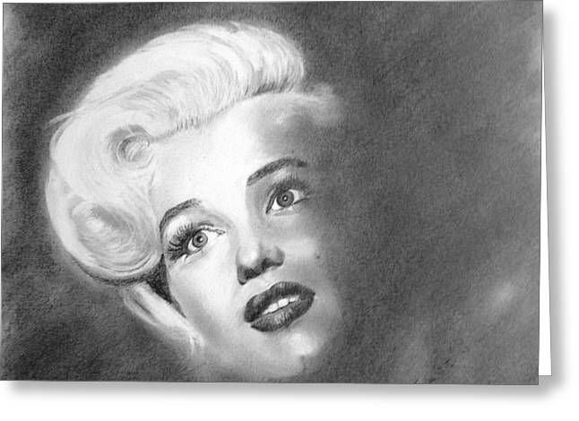 Marilyn- In The Shadows Greeting Card