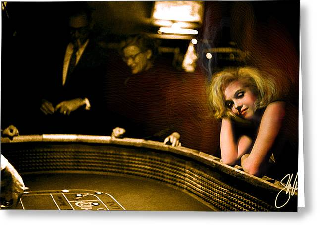 Marylin Monroe Las Vegas Greeting Card by Steve Will
