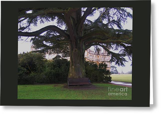 Mary's Bench At Downton Abbey  Greeting Card