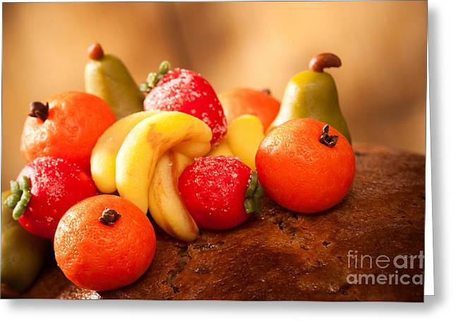 Marzipan Fruits Greeting Card by Amanda Elwell