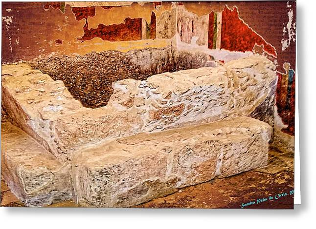 Masada Bathing Quarters Built By King Herod The Great Greeting Card