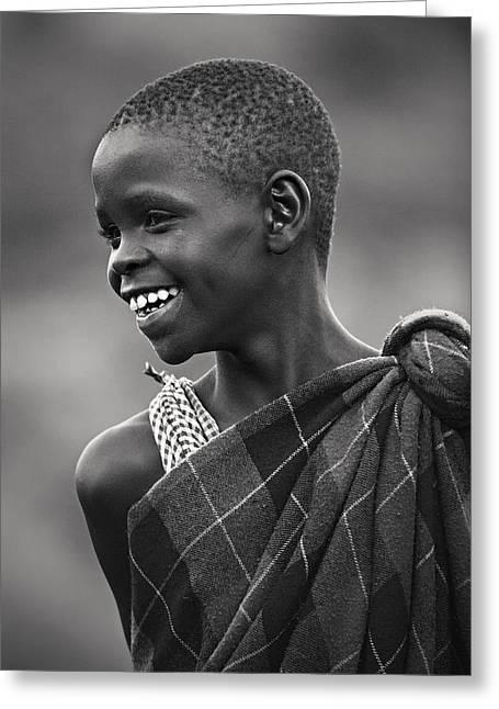 Greeting Card featuring the photograph Masai #2 by Antonio Jorge Nunes