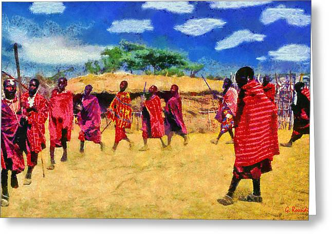 Masai Dance Greeting Card