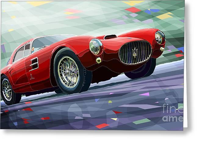 Maserati A6gcs Berlinetta By Pininfarina 1954 Greeting Card