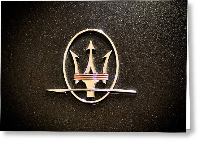 Maserati Logo Greeting Card