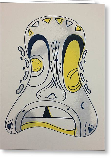 Mask Greeting Card by Candace Bailey