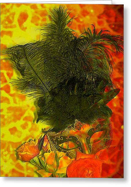 Mask Greeting Card by Kelly McManus