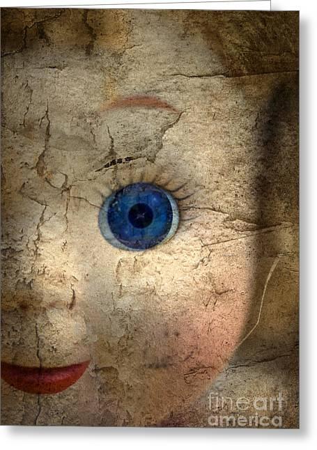 Mask Of Madness Greeting Card by Evelina Kremsdorf