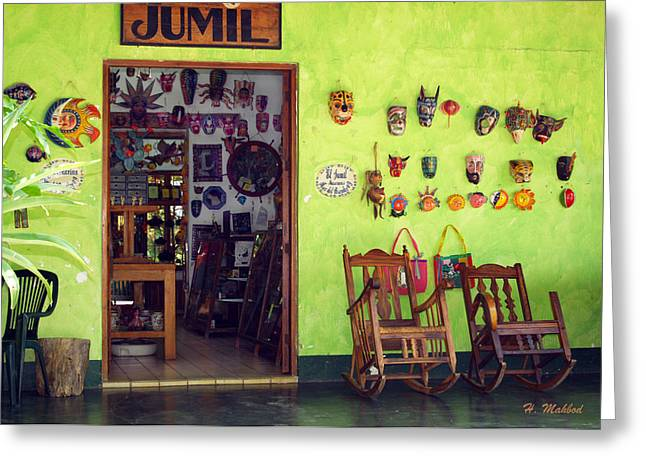 mask shop in Mexico Greeting Card