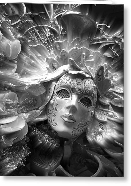 Greeting Card featuring the photograph Masked Angel by Amanda Eberly-Kudamik