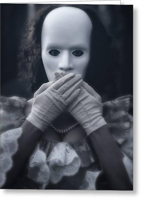 Masked Woman Greeting Card by Joana Kruse