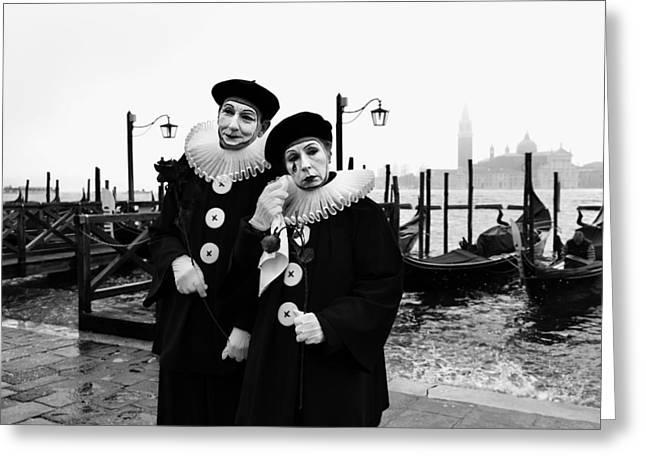 Masks In Venice Greeting Card by Yuri Santin