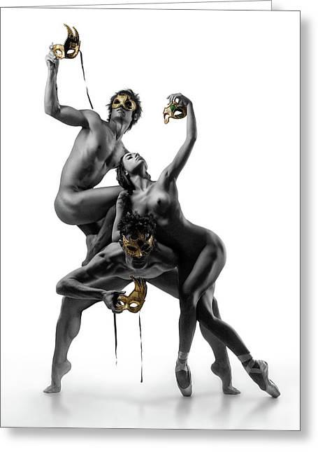 Masks Iv Greeting Card by Ddiarte