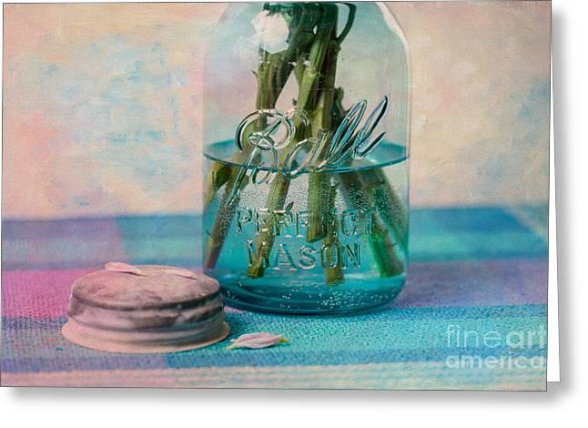 Mason Jar Vase Greeting Card