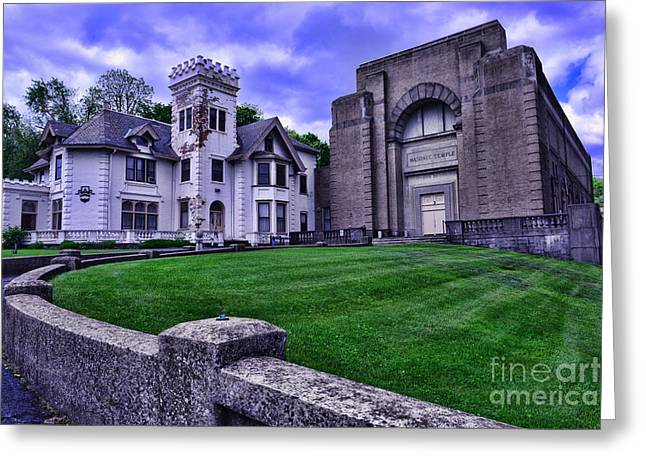 Masonic Lodge Greeting Card by Paul Ward