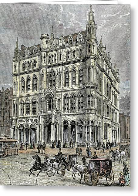 Masonic Temple Opened In 1867 Greeting Card