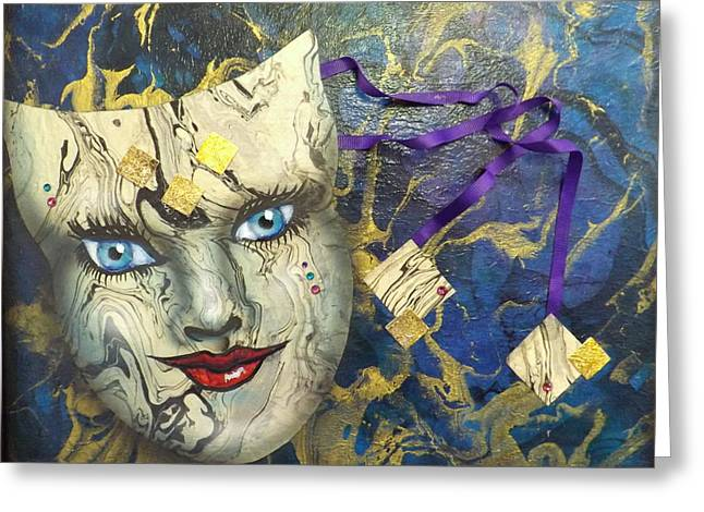 Masquerade Blues Greeting Card
