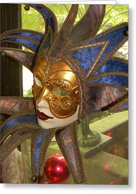 Masquerade Greeting Card by Jean Goodwin Brooks