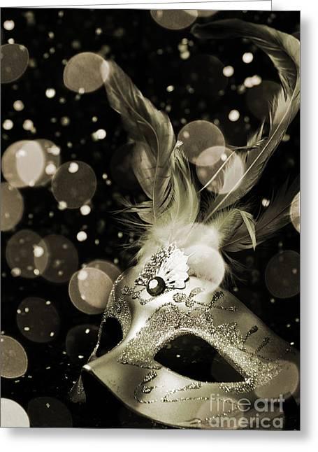 Masquerade Greeting Card by Jelena Jovanovic