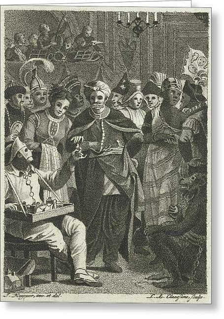 Masquerade, Lambertus Antonius Claessens Greeting Card