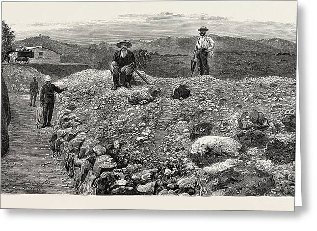 Mass Of Quartz Excavated From No Greeting Card
