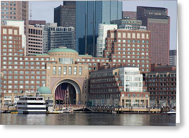 Massachusetts, Boston Greeting Card by Cindy Miller Hopkins