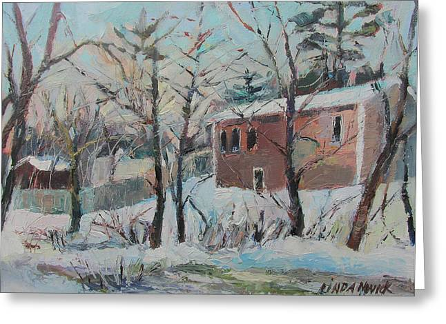 Massachusetts Snowfall Greeting Card
