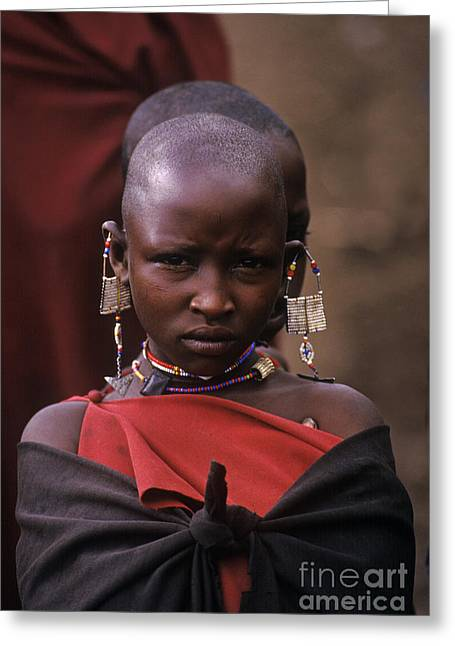 Massai Girl - Tanzania Greeting Card by Craig Lovell