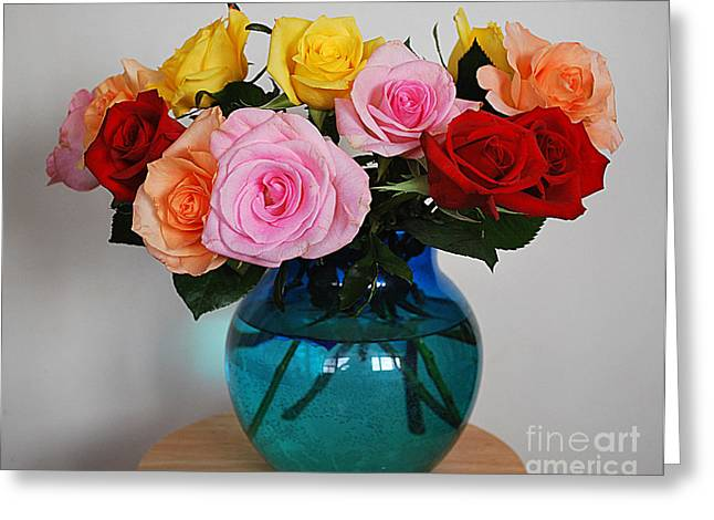 Massed Roses Greeting Card