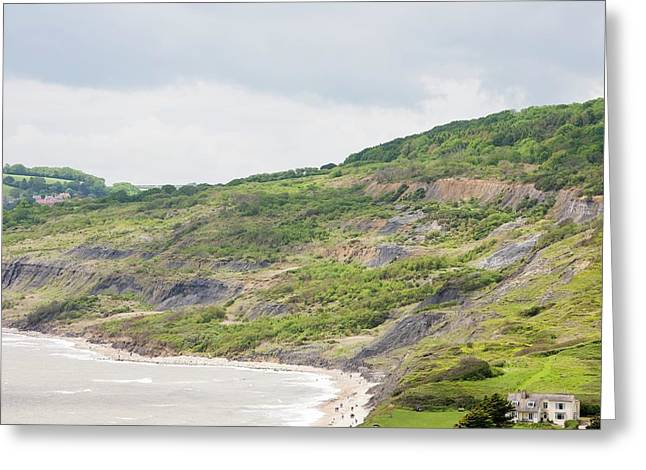 Massive Landslip At Black Ven Greeting Card by Ashley Cooper